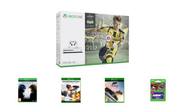 Xbox One S FIFA 17 Bundle With Three Games and Now TV for Under £220